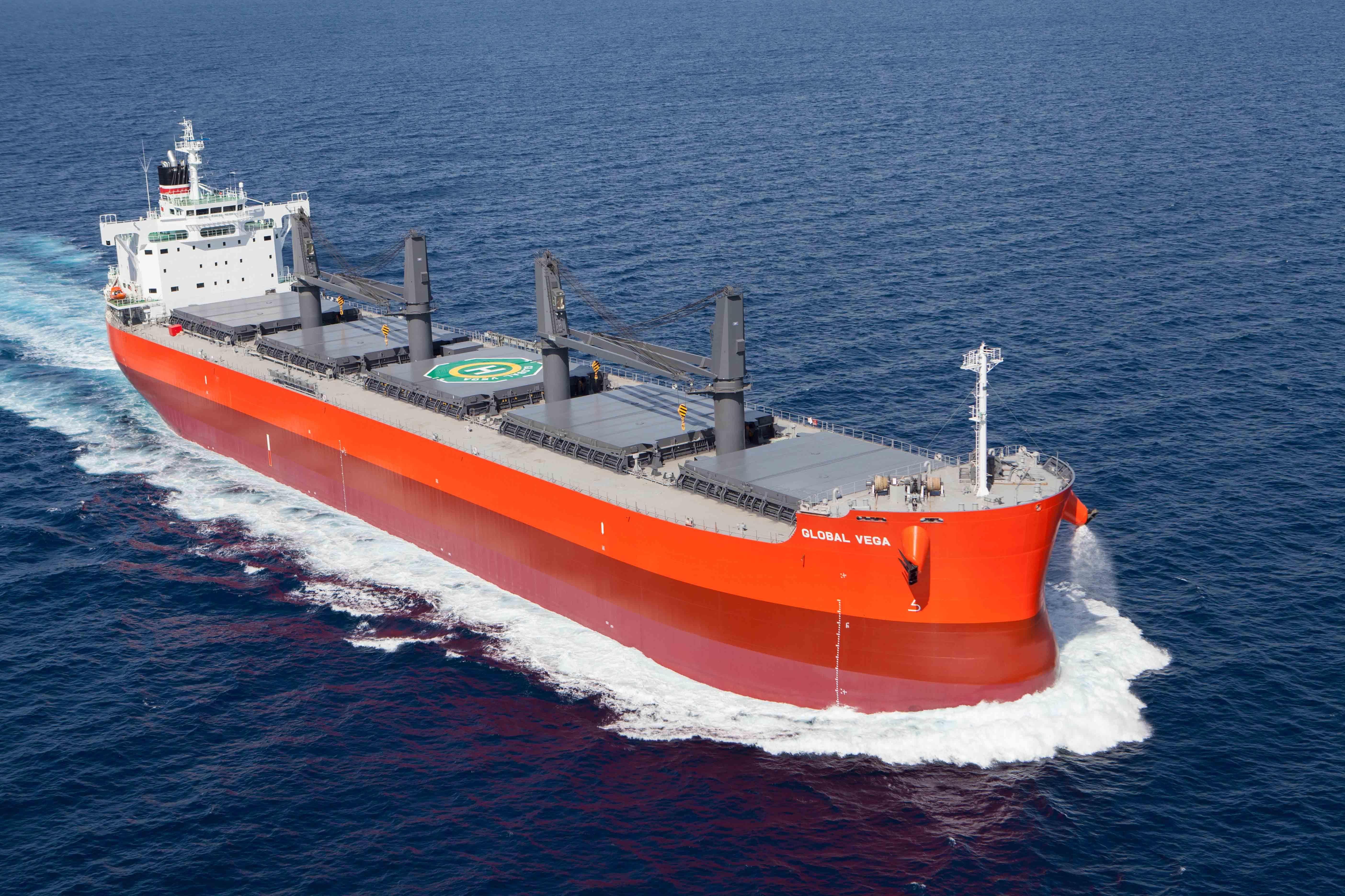 """常石造船海外集团公司的TSUNEISHI HEAVY INDUSTRIES (CEBU), Inc,于本月建成、交付了散装货物船""""TESS58""""系列的第148艘船舶"""
