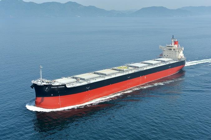 """常石造船集团公司的多度津造船,建成、交付了""""卡姆萨型散装货物船""""系列船的第183艘船舶"""