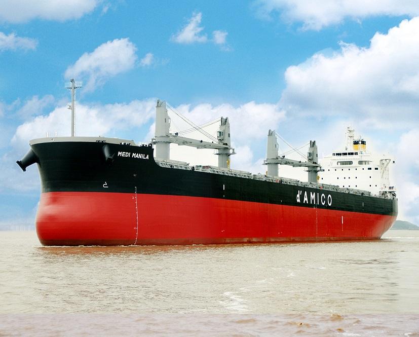 """常石造船海外集团公司的常石集团(舟山)造船有限公司,于本月建成、交付了散装货物船""""TESS58""""系列的第151艘船舶"""