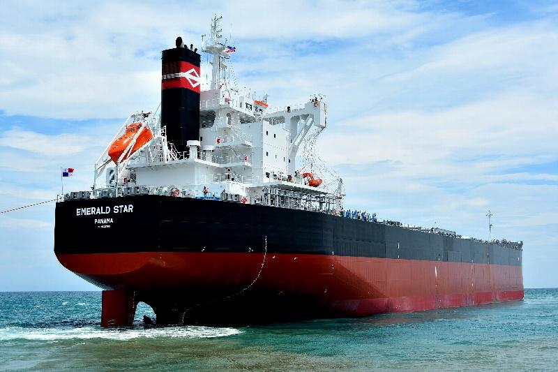 """常石造船海外集团公司的TSUNEISHI HEAVY INDUSTRIES (CEBU), Inc,总计建成、交付了""""卡姆萨型散装货物船""""系列船的第187艘船舶"""