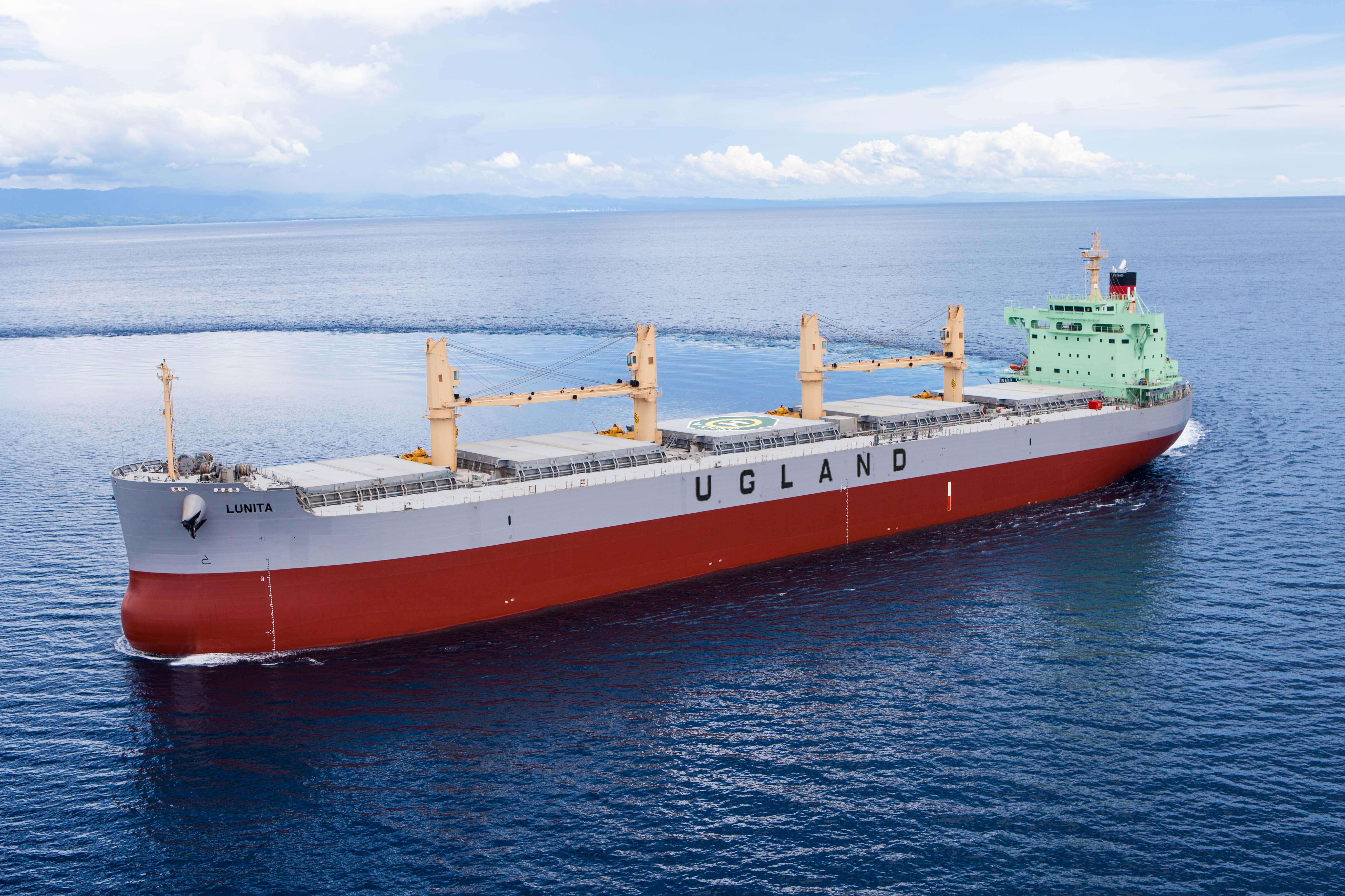 """常石造船海外集团公司的TSUNEISHI HEAVY INDUSTRIES (CEBU), Inc.于本月建成、交付了散装货物船""""TESS58""""系列的第154艘船舶。"""