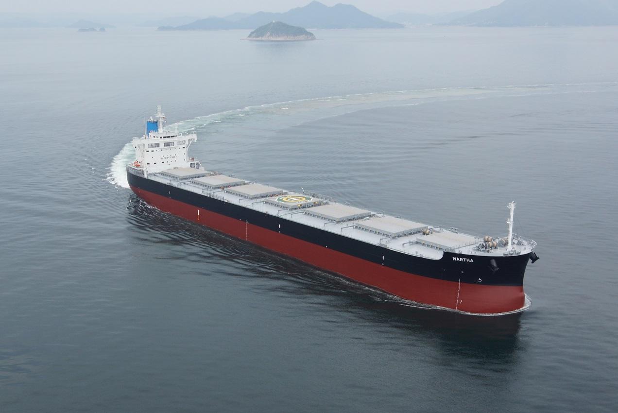 """常石造船集团公司的多度津造船,建成、交付了""""卡姆萨型散装货物船""""系列船的第192艘船舶"""