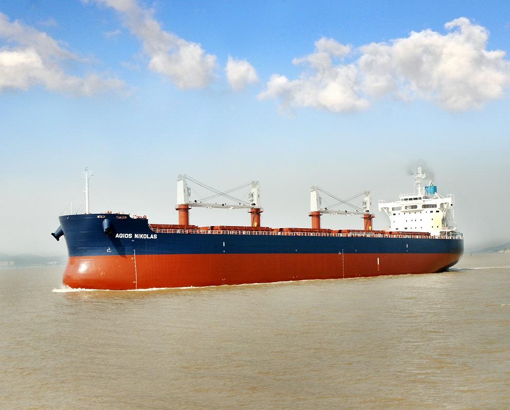 """常石造船海外集团公司的常石集团(舟山)造船有限公司,于本月建成、交付了散装货物船""""TESS58""""系列的第155艘船舶"""