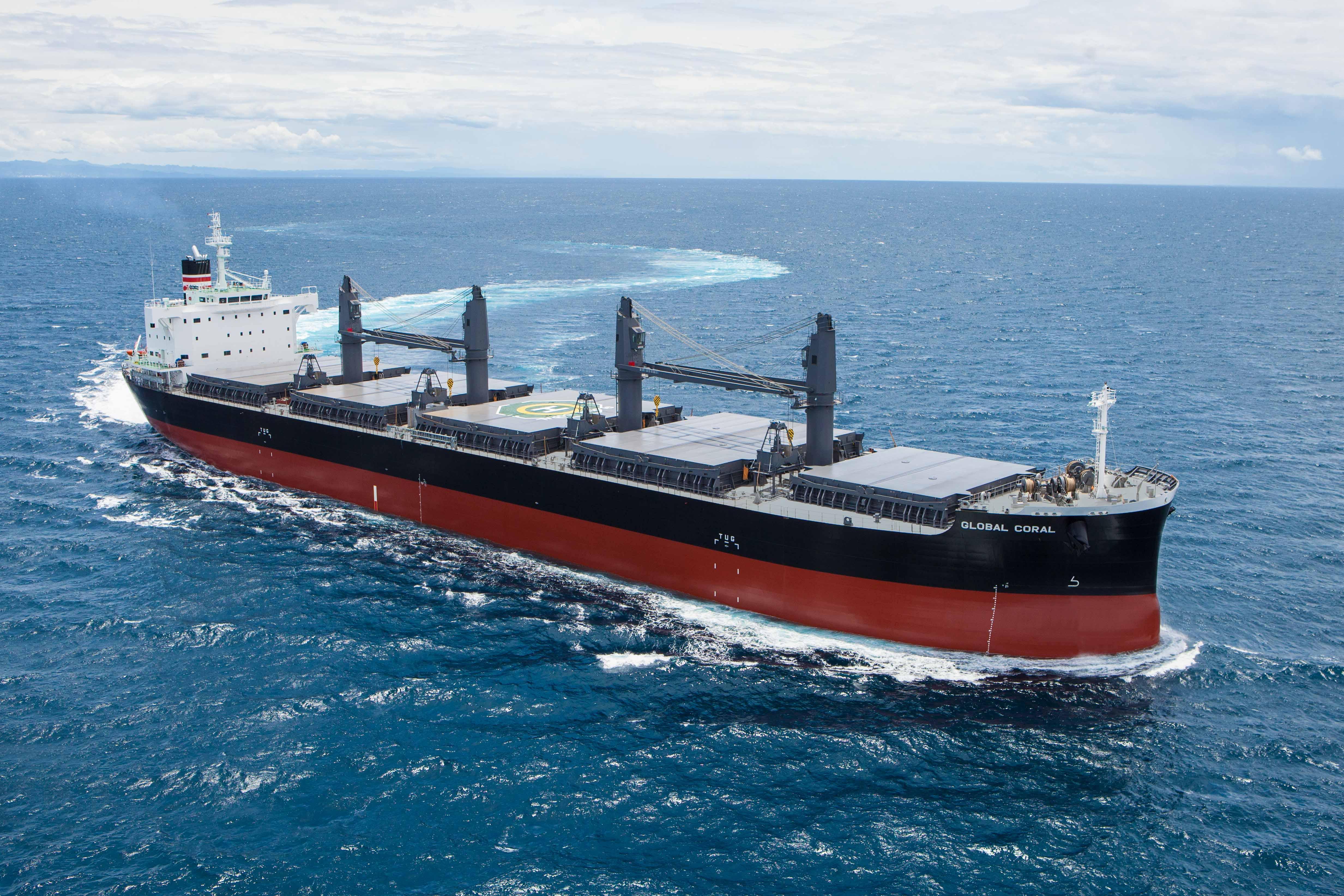 """常石造船海外集团公司的TSUNEISHI HEAVY INDUSTRIES (CEBU), Inc.于本月建成、交付了TESS45后继船型""""TESS45BOX""""第3艘船"""