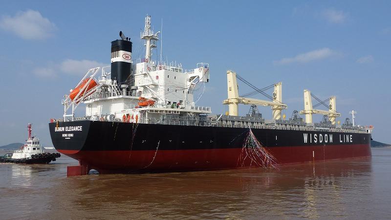 """常石造船的海外集团公司常石集团(舟山)造船有限公司,于11月10日建成并交付了TESS45后继船型""""TESS45BOX""""系列的第4艘船"""