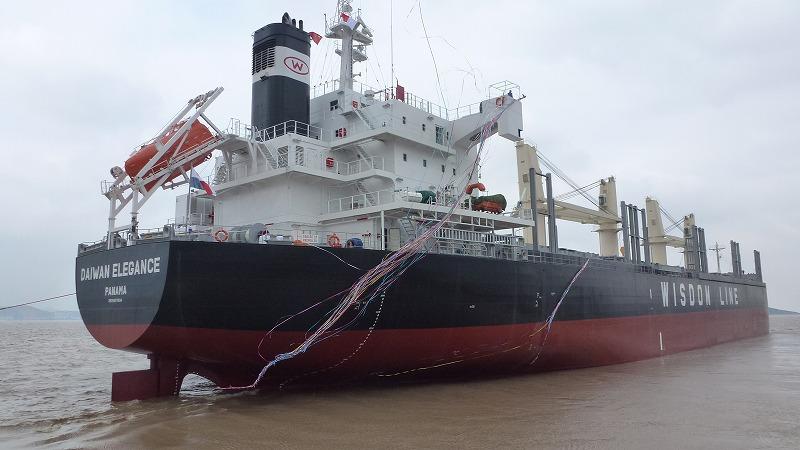 """首艘TSUNEISHI ECONOMICAL STANDARD SHIP(TESS)系列新船型""""TESS35""""在常石集团(舟山)造船有限公司竣工并交付"""