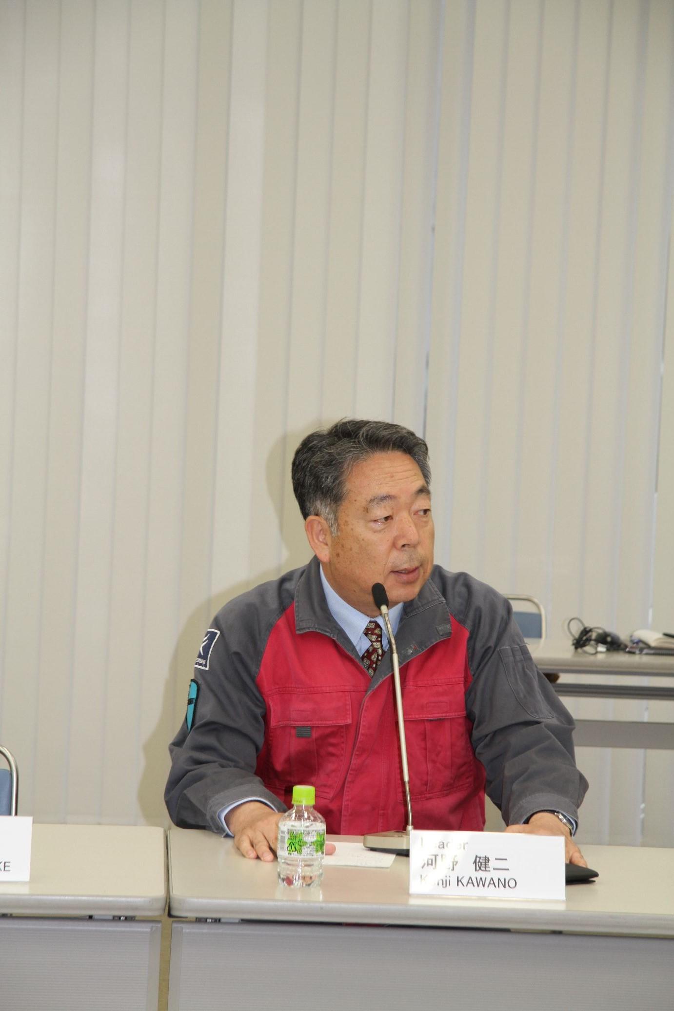 常石造船河野健二总经理发表讲话