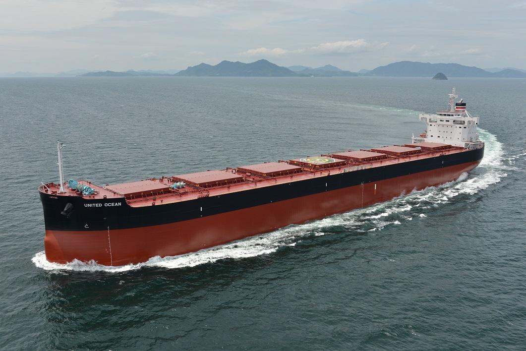 """常石集团的国内建造基地,常石造船株式会社常石工厂,建成并交付了""""卡姆萨型散装货物船""""系列船的第186艘船舶"""