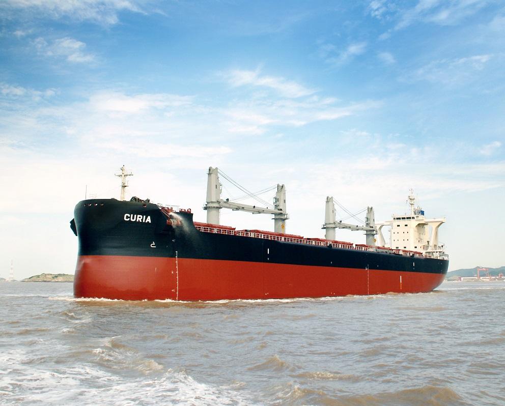 """D/W 57,500 mt型散装货船""""TESS58 AEROLINE"""" 第4艘建成并交付~常石造船的海外(中国)集团公司常石集团(舟山)造船有限公司"""