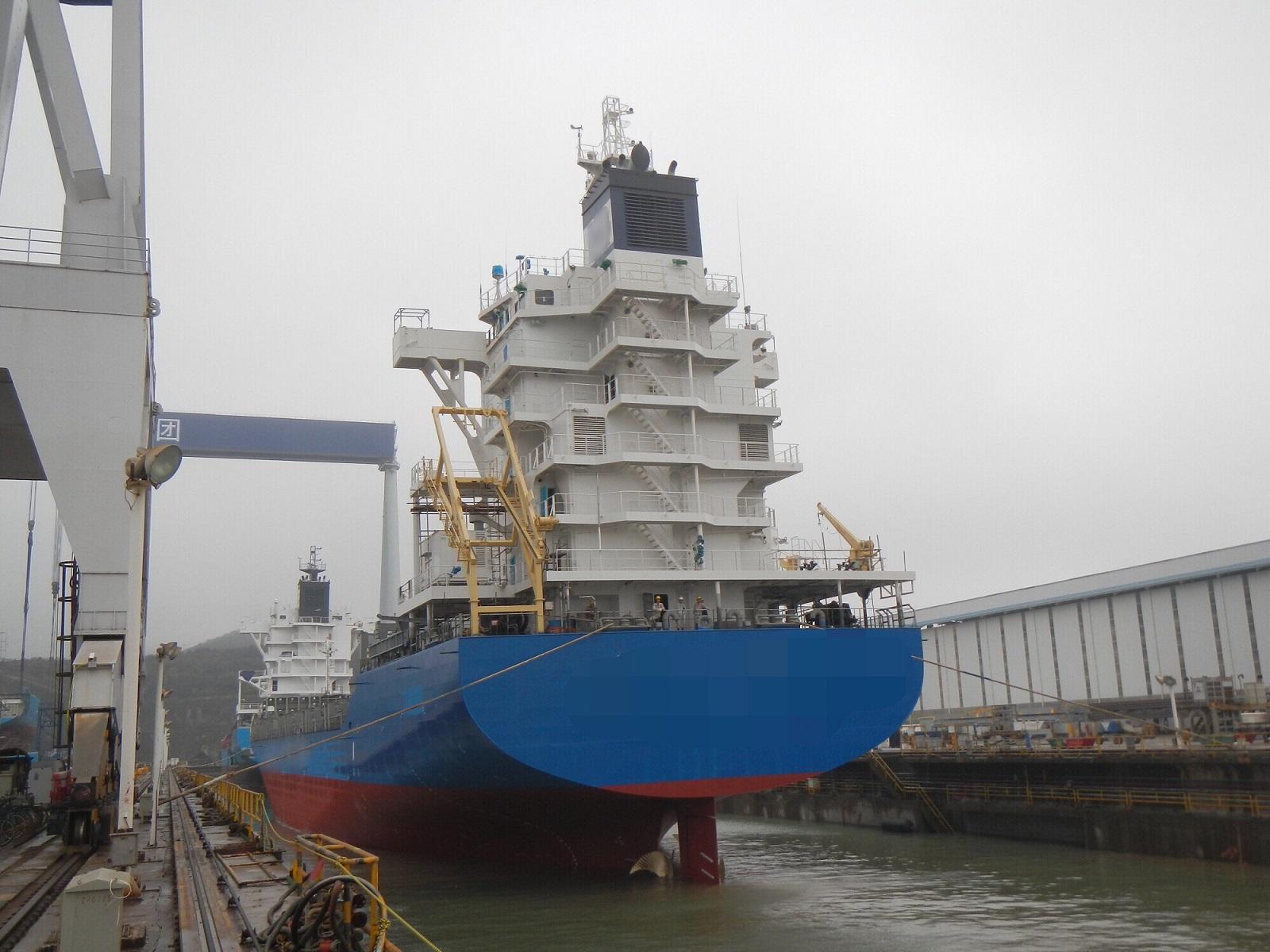 常石舟山1,020TEU型集装箱运输船下水