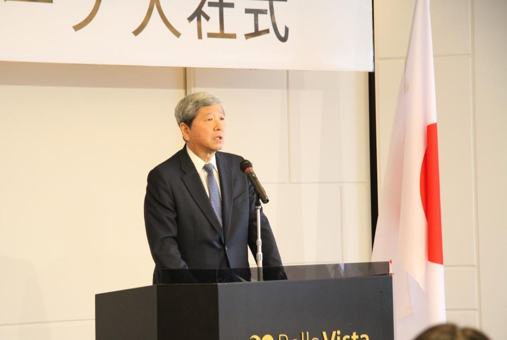 常石控股株式会社董事长川本隆夫先生