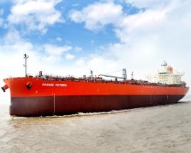 常石造船交付在中国基地首次建造的LRI型成品/化学品油轮