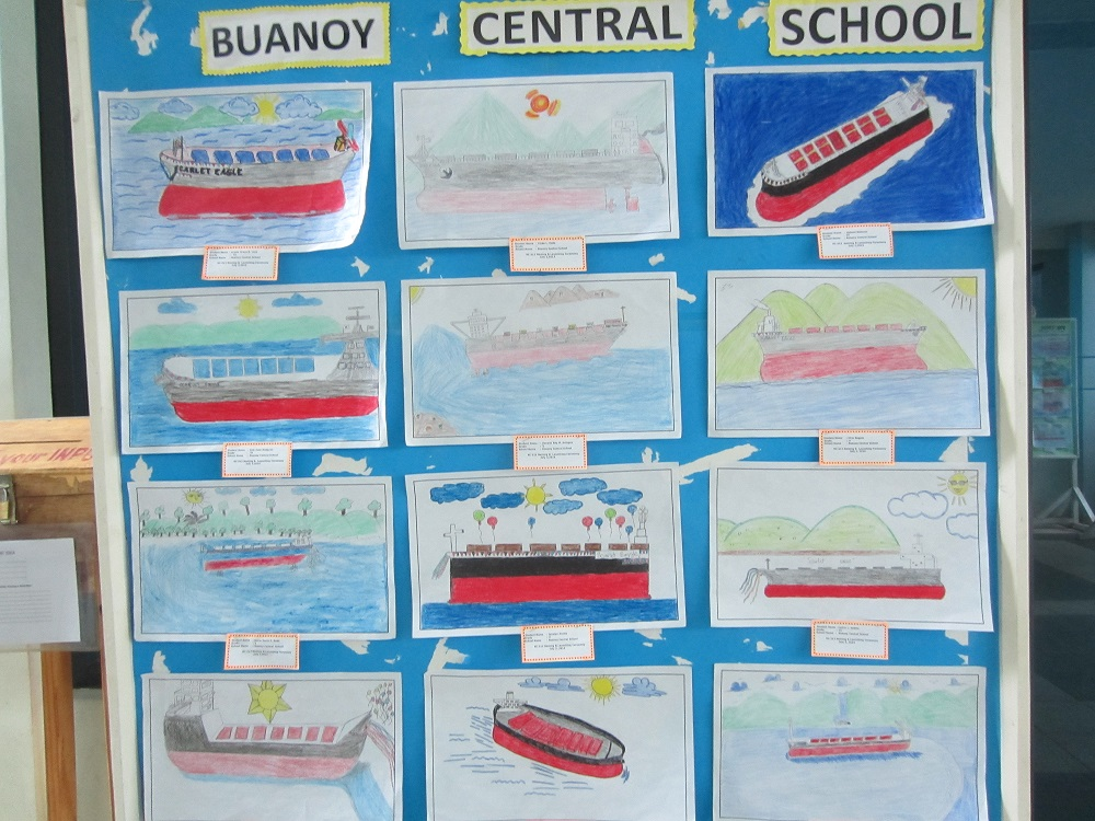 TSUNEISHI HEAVY INDUSTRIES (CEBU), Inc. held a Drawing Contest about ship yard and ship