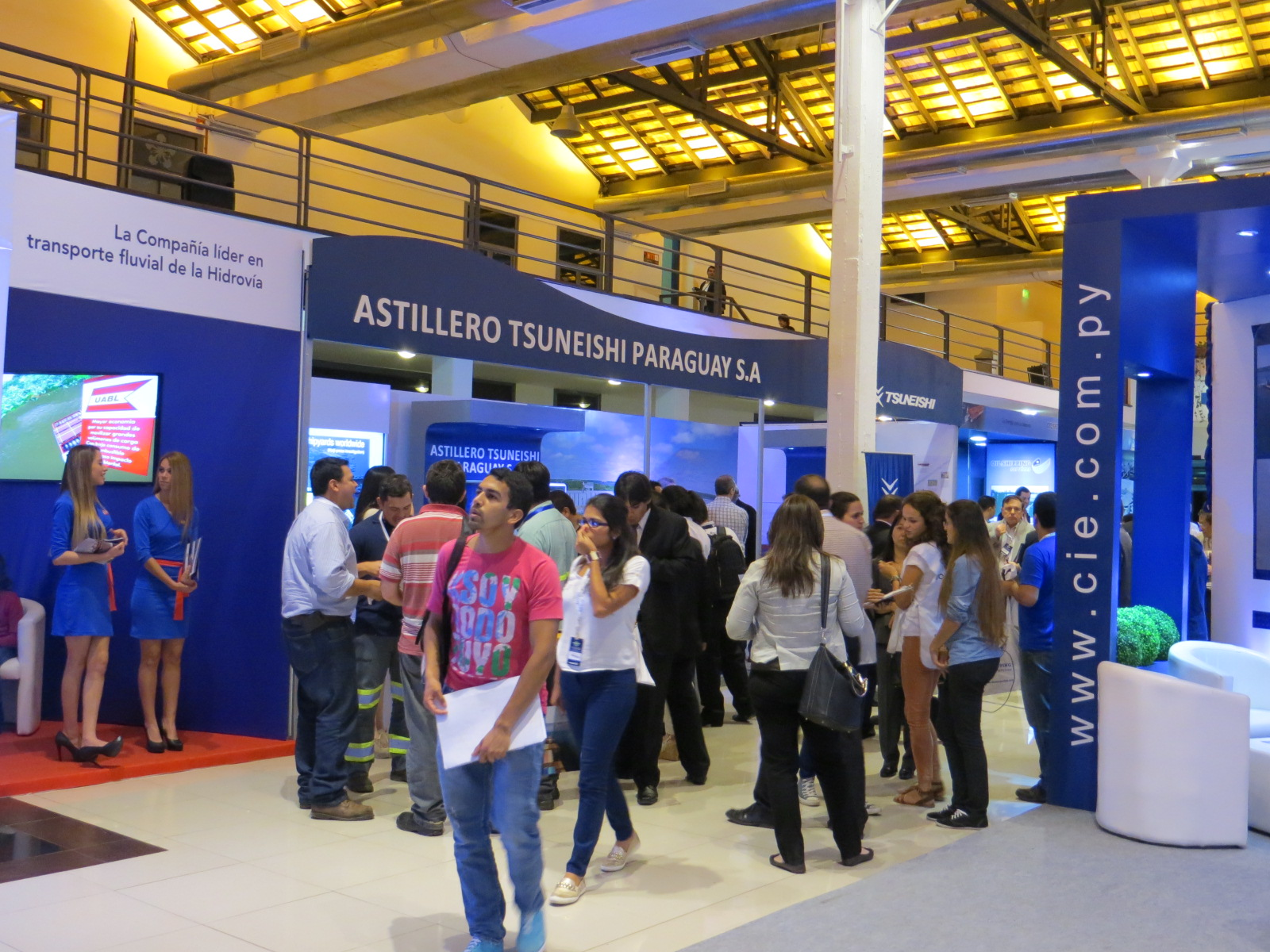 "ASTILLERO TSUNEISHI PARAGUAY exhibited for the first time at the maritime exhibition in Paraguay, ""NAVIGESTIC"" ~A great success with 4,000 people attending, and even discussion about Grain Barge~"
