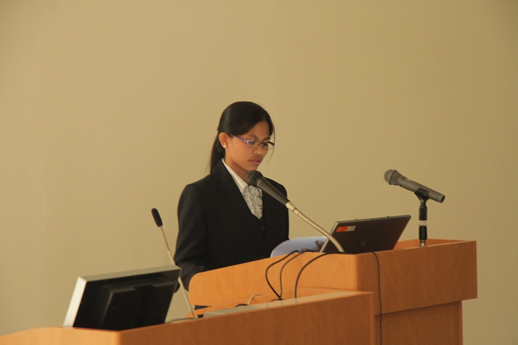 Presentation by Philippines trainee