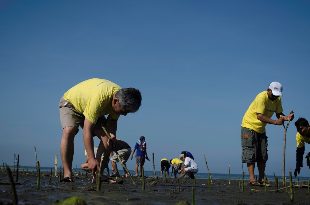 TSUNEISHI FOUNDATION (CEBU), Inc. plants trees for World Wetlands Day