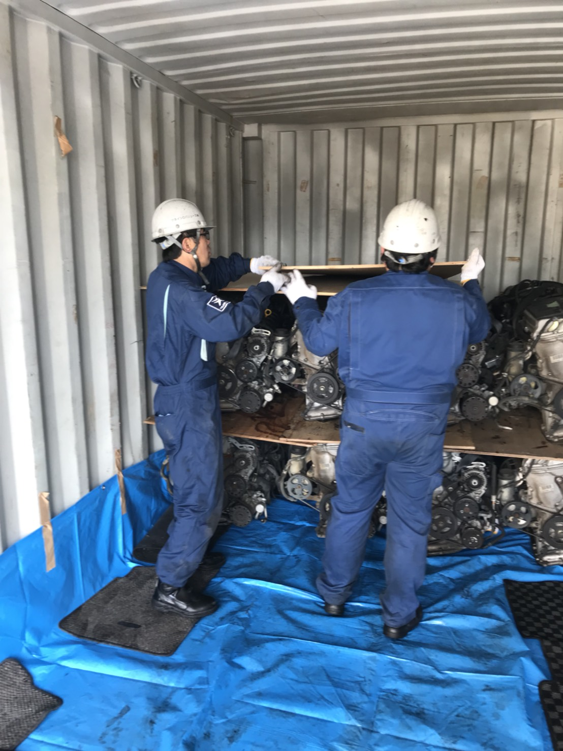 TSUNEISHI C VALUES sent its first shipment of recycled automobile parts to Myanmar