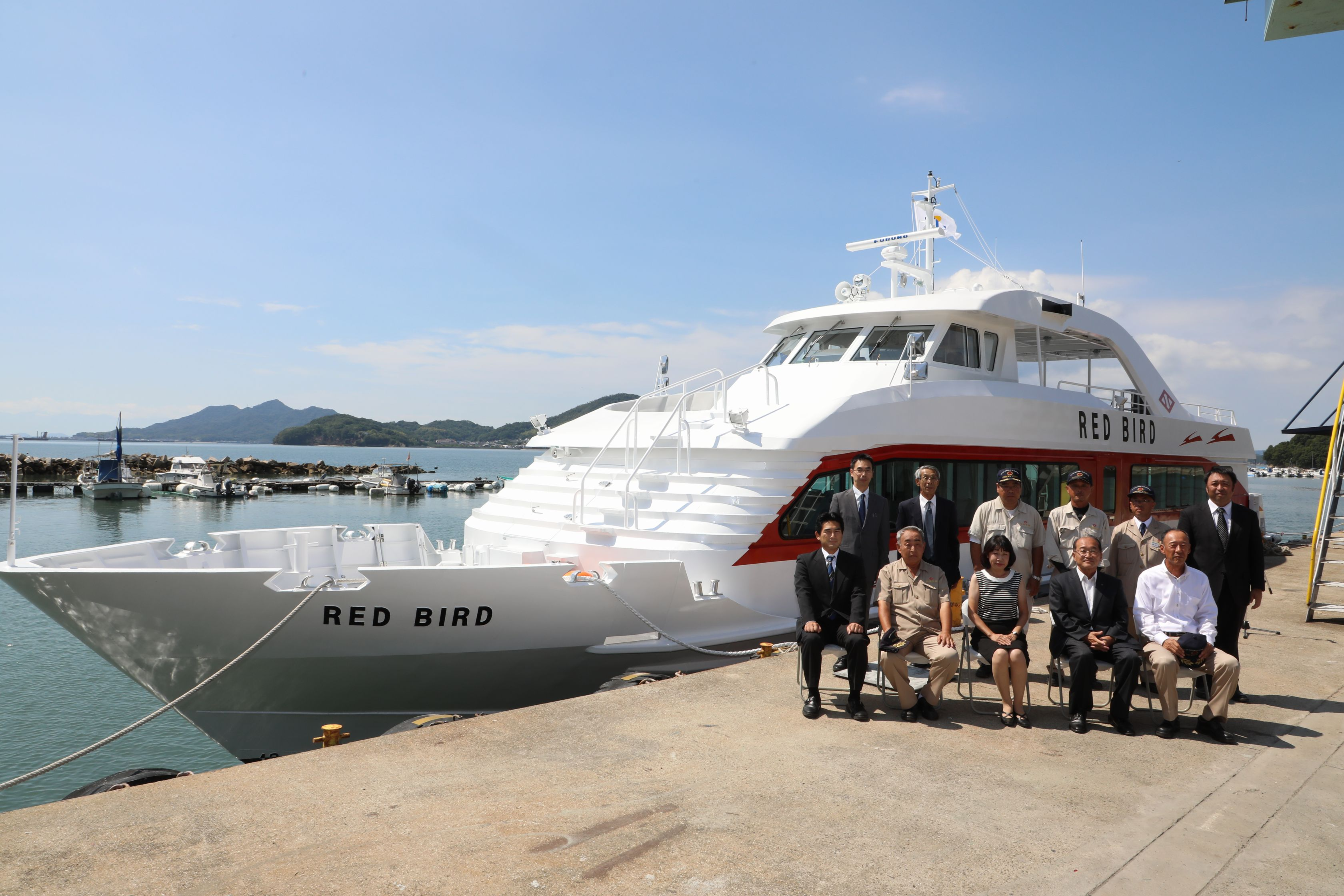 TSUNEISHI FACILITIES & CRAFT Completes and Delivers the Passenger Ship RED BIRD for Ferry Routes Connecting Naoshima with Takamatsu Port and Uno Port