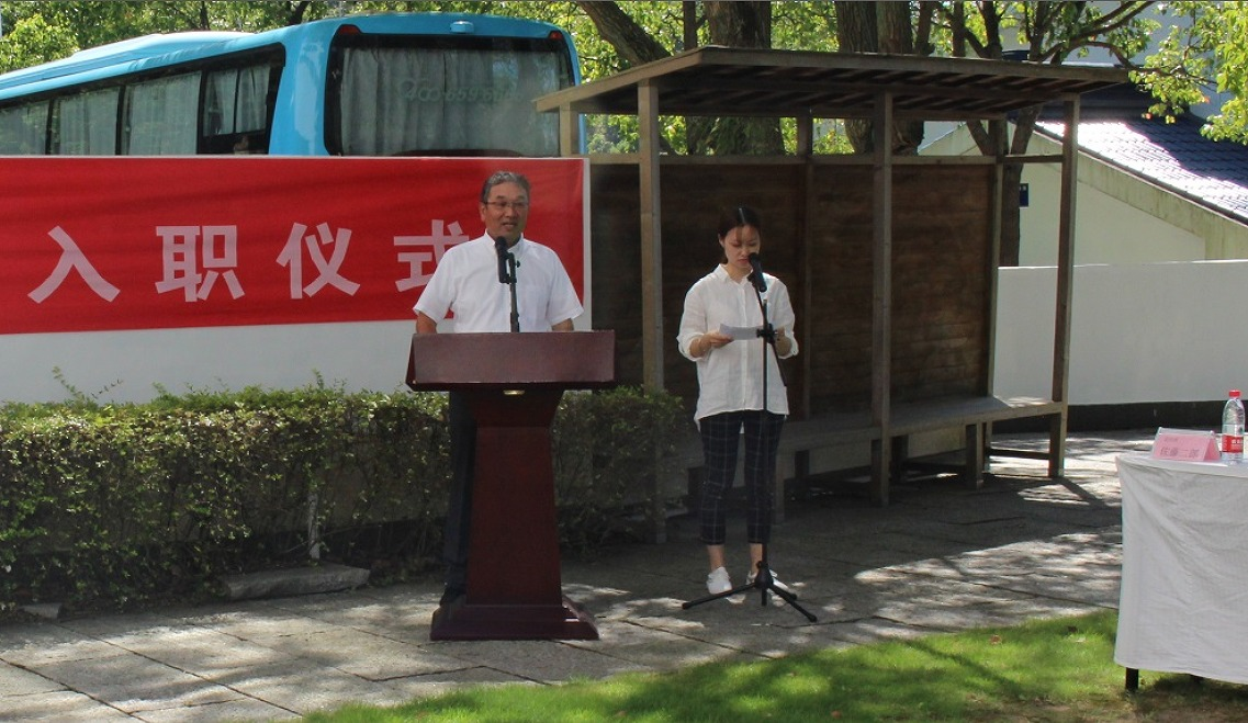 Mr. Jiro Sato made a speech of welcome