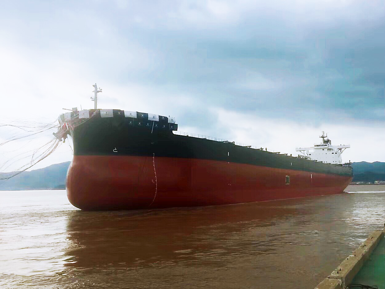 "TSUNEISHI SHIPBUILDING launches the first ""TESS999"" 99,990 MT bulk carrier"