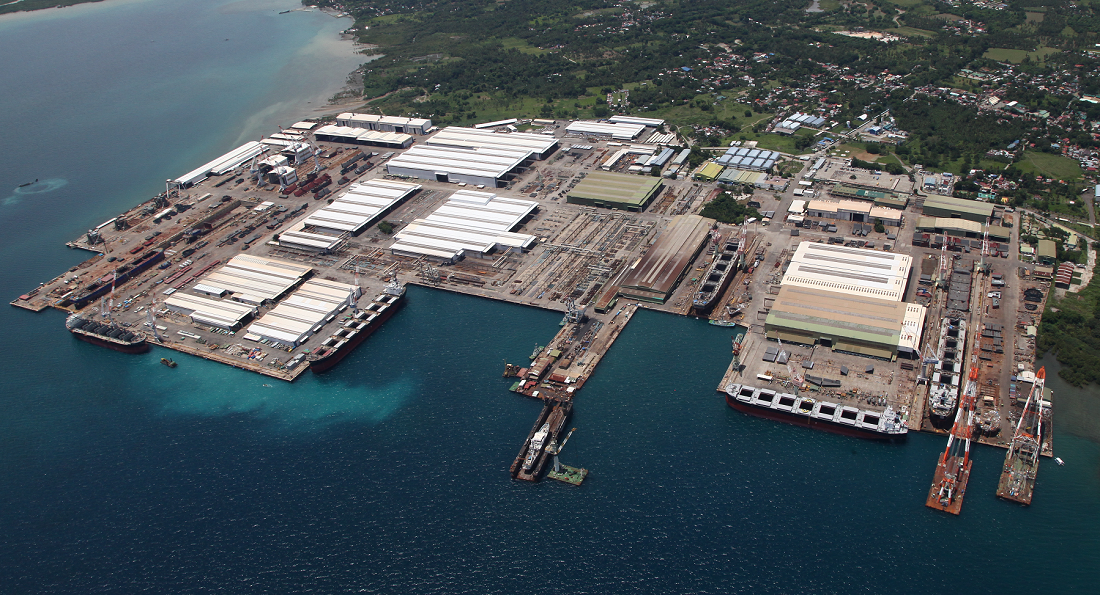 Panoramic view of THI factory where the 300th ship was completed