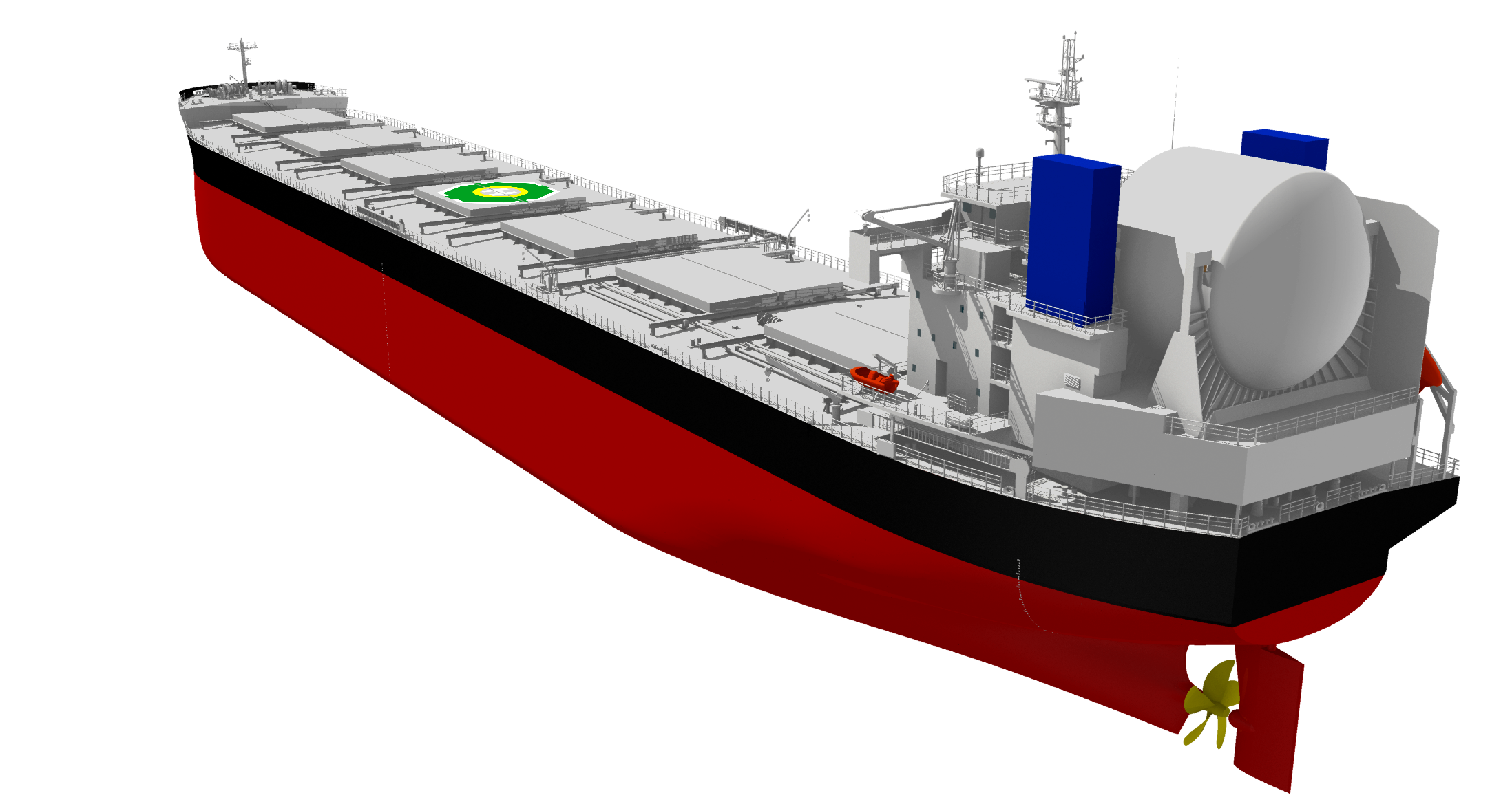 TSUNEISHI SHIPBUILDING receives Approval in Principle for LNG dual-fuel bulk carrier KAMSARMAX GF: CO₂ reduced by 40% or more compared to EEDI reference line