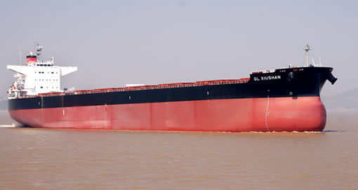 Newly Developed Ship 「TESS98」The first bulk carrier with 98,000 ton loading capacity has been completed at a factory in China