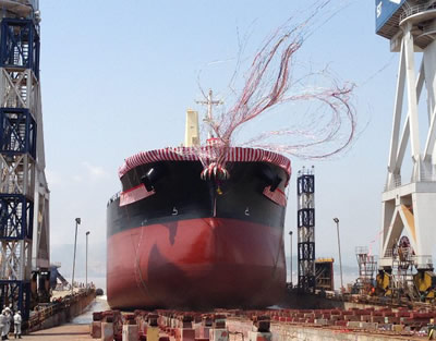 "TESS45 Subsequent Model ""TESS45BOX""                    First Ship Launches from Group Shipyard in China"