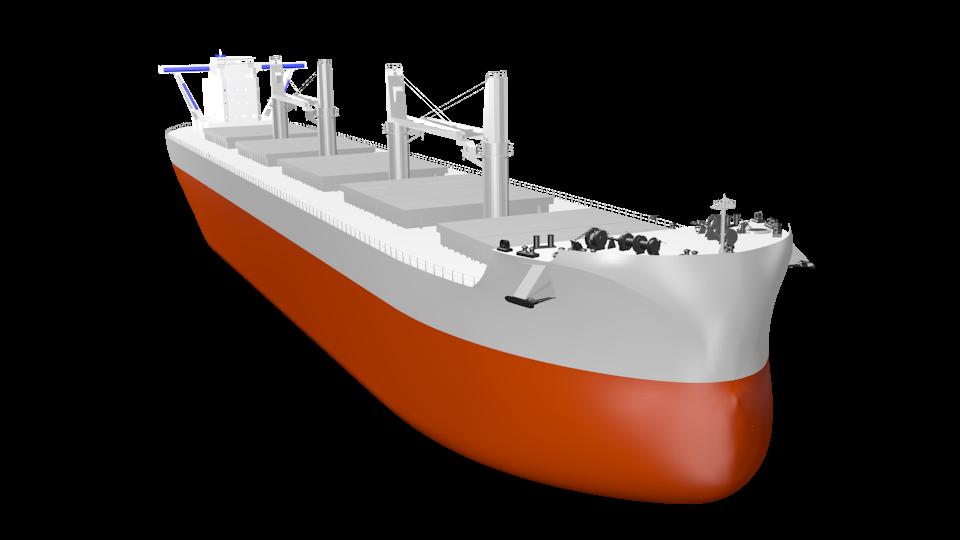 """常石造船の新船型 6万3,700トン型バルカー """"TESS64 AEROLINE""""デビュー  風圧抵抗低減など新技術搭載し燃費効率20%向上"""