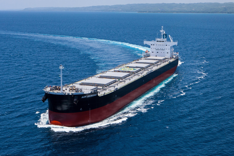 """常石造船の海外グループ会社、TSUNEISHI HEAVY INDUSTRIES (CEBU), Inc.でばら積み貨物船""""カムサマックスバルカー""""グループ通算182隻目を竣工・引渡"""