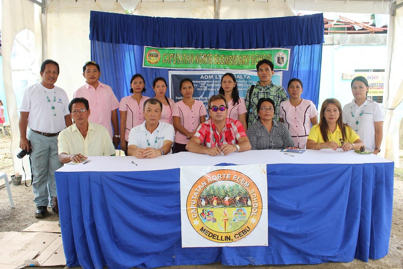 TSUNEISHI HEAVY INDUSTRIES (CEBU), Inc.を通じて海外船主会社がフィリピン台風被災支援セブ島北部2つの小学校校舎を修繕