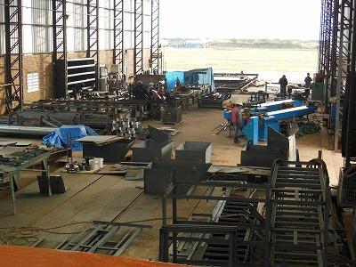 パイプ製造工場