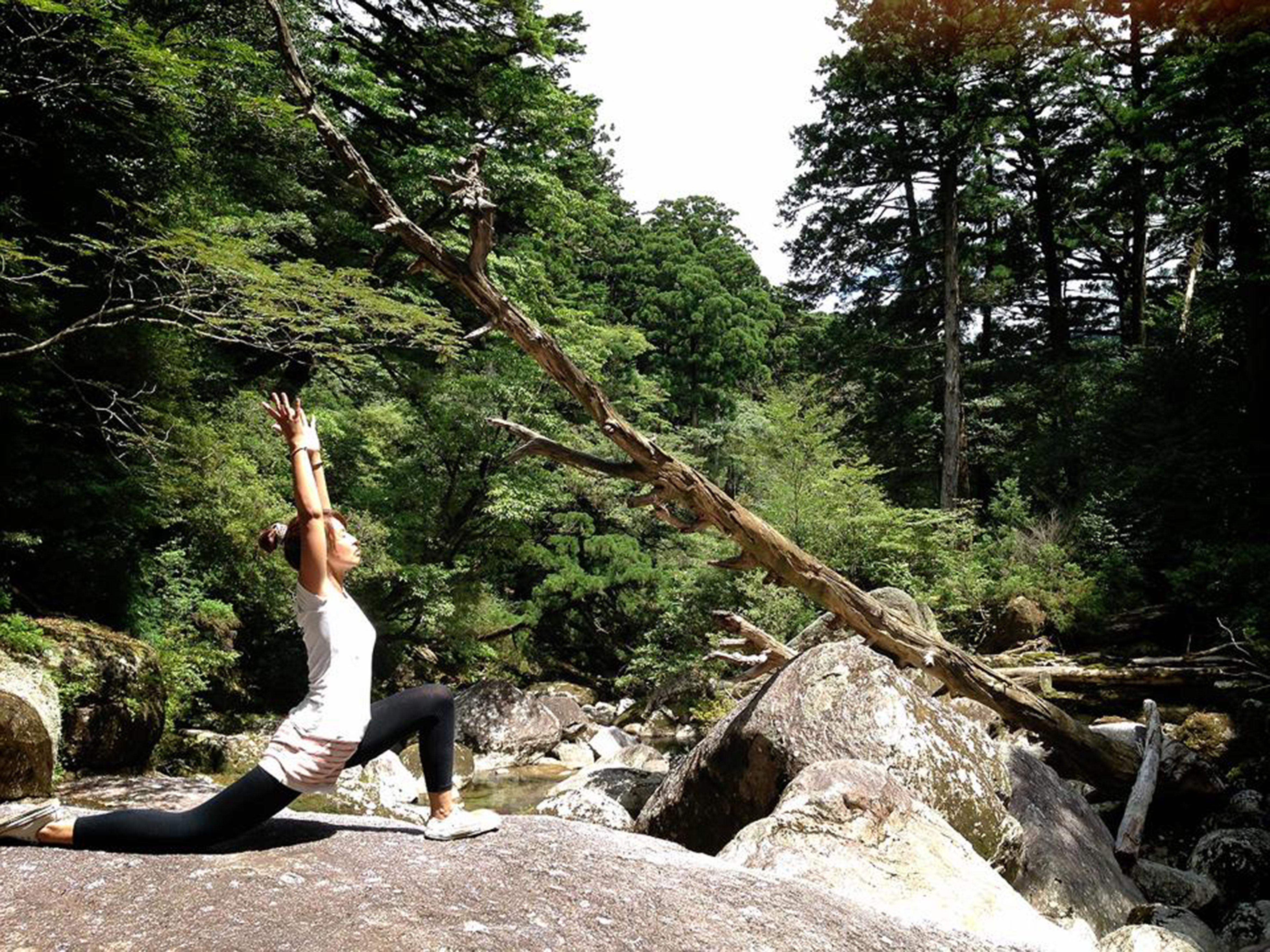 森で深呼吸~朝夕のヨガでリラックス2014年8月12日〜17日に神石高原ホテル宿泊者対象イベント開催