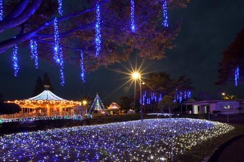 星空の下の遊園地みろくの里ウインターイルミネーション2014年11月8日(土)から開催!