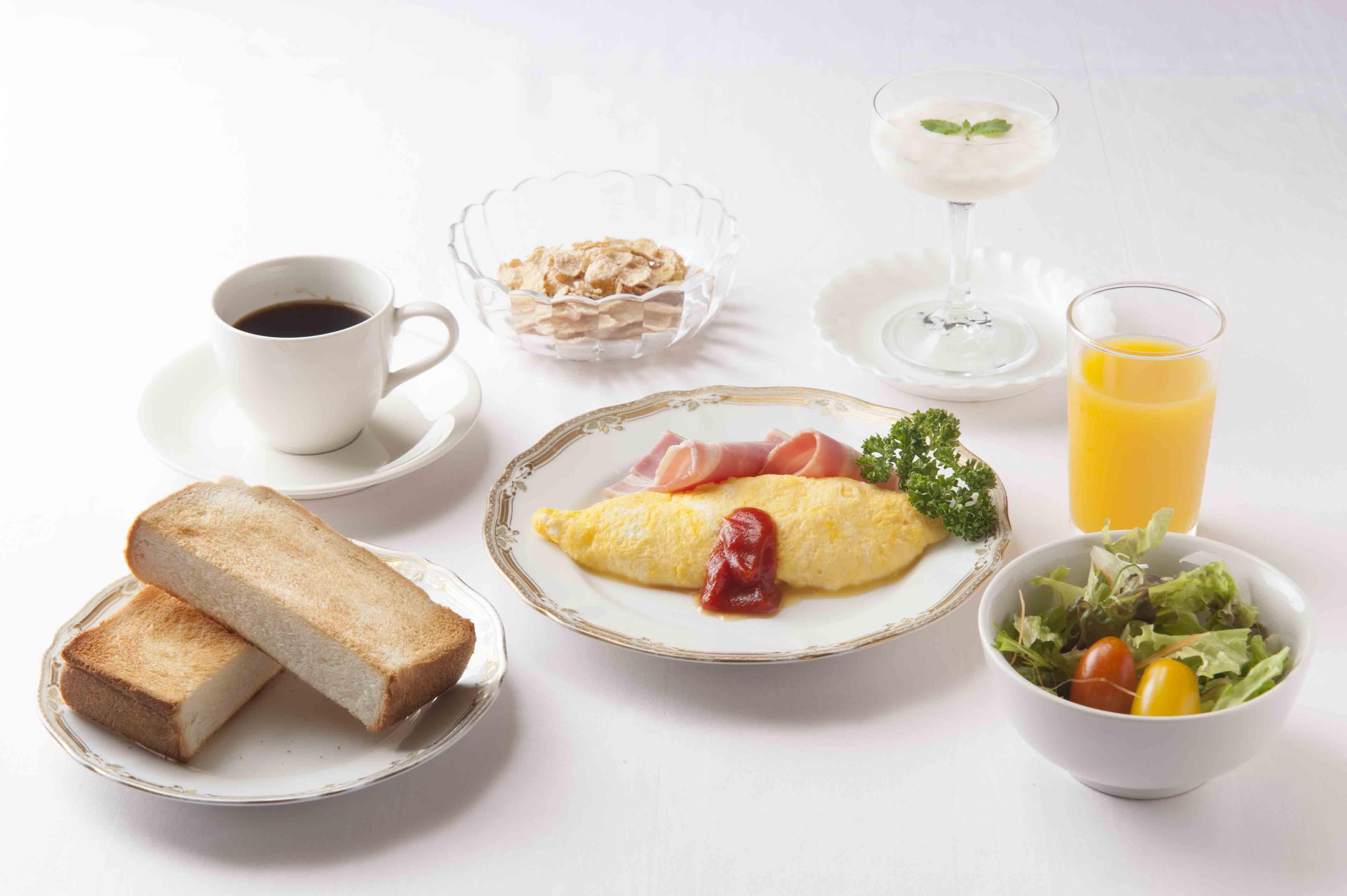 朝食は洋食・和食からお選びください