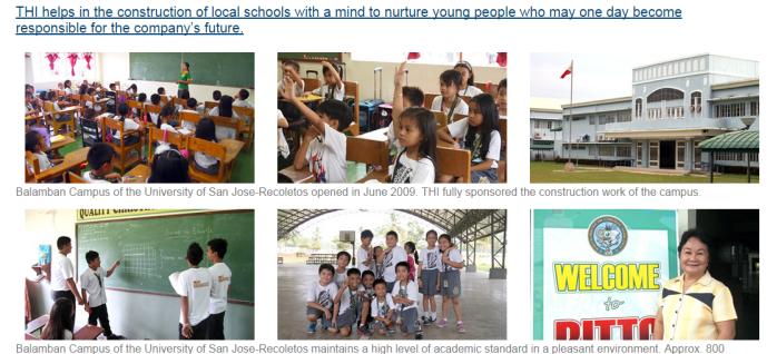 地域貢献の活動紹介ページ