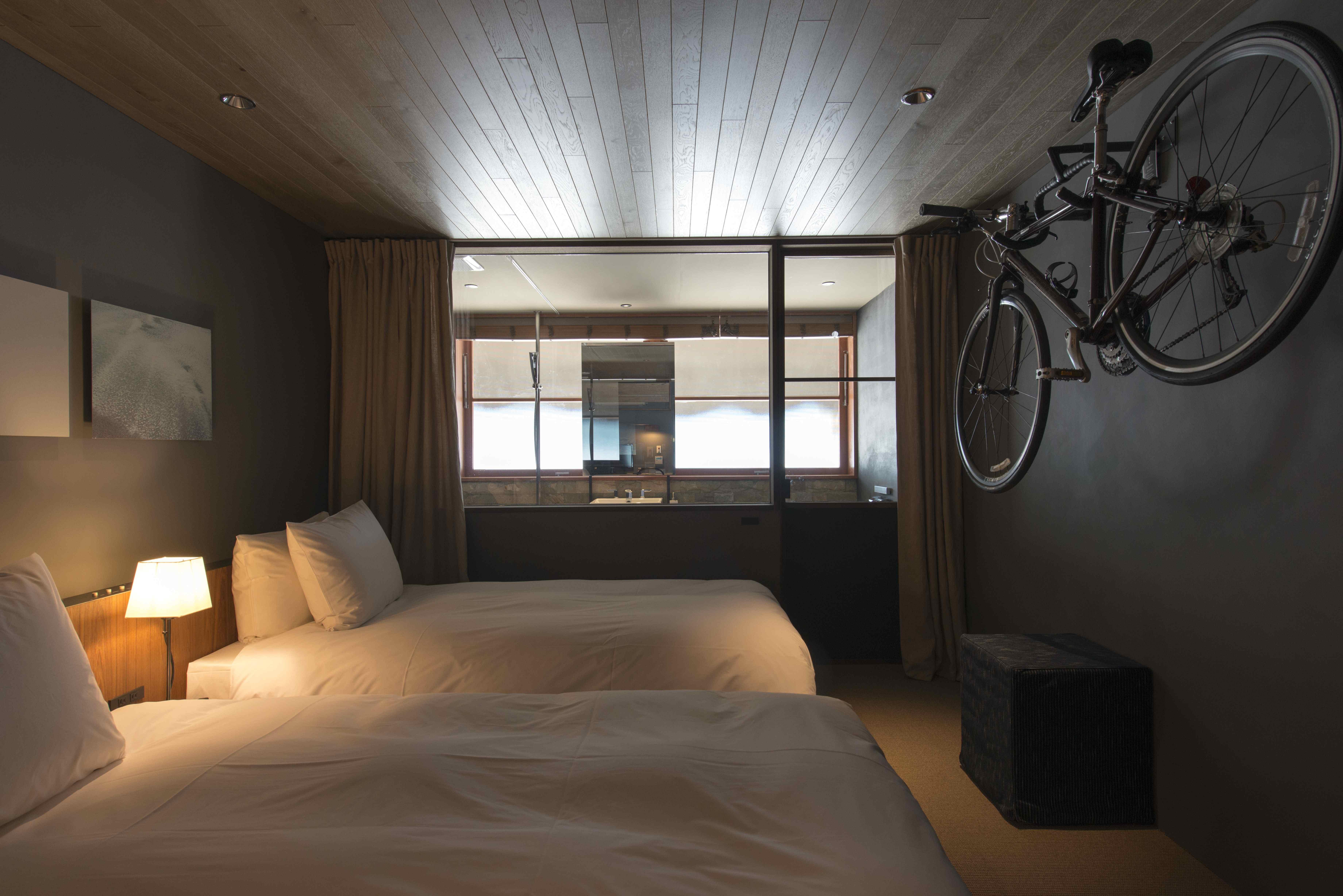 落ち着いた雰囲気のHOTEL CYCLE客室