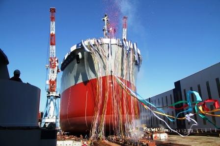 常石造船 2月16日に行う進水式を見学してみませんか
