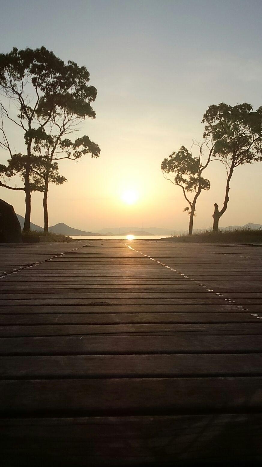 瀬戸田サンセットビーチの夕景