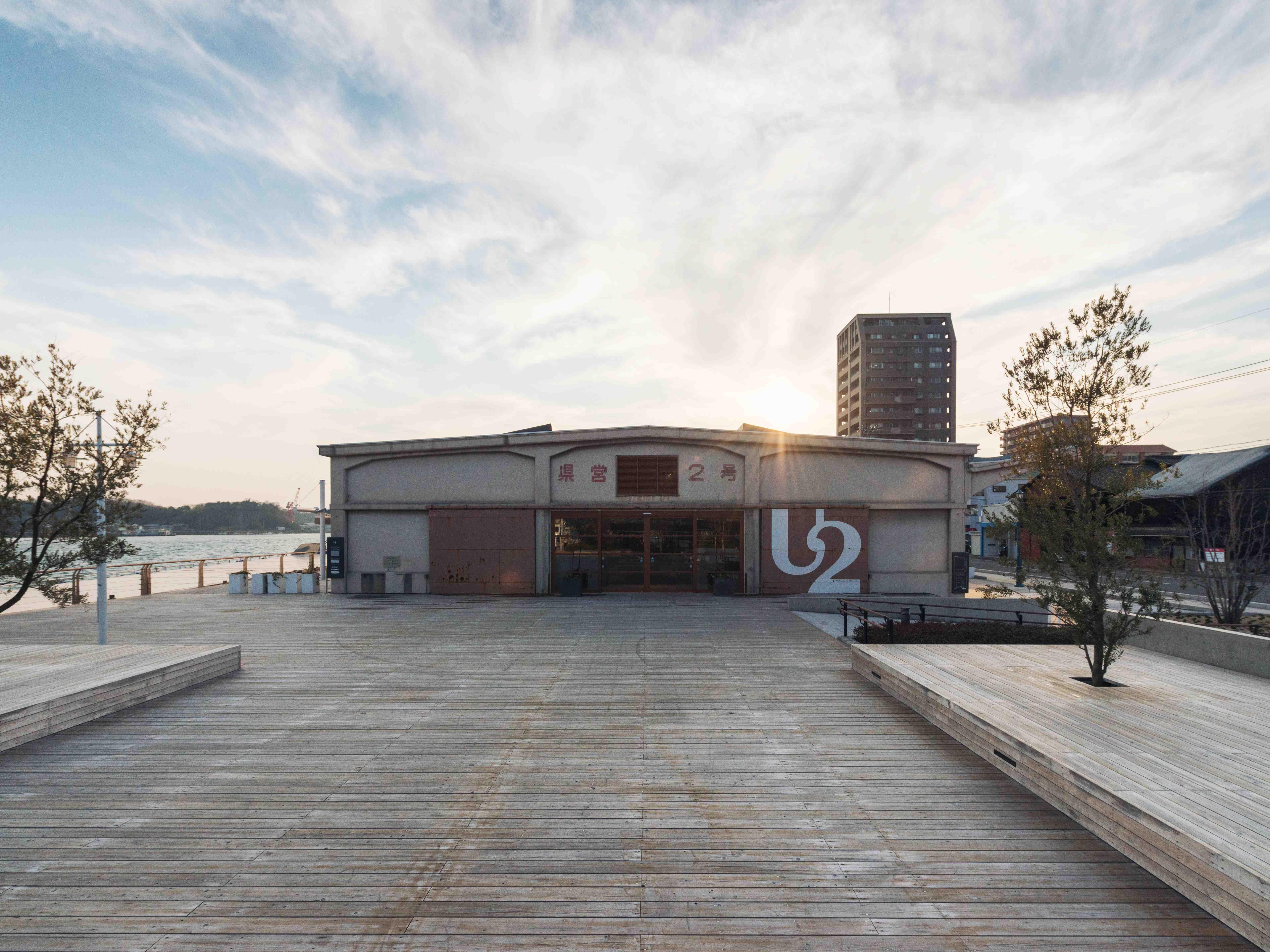 使われていない海沿いの倉庫をリノベーションした複合施設ONOMICHI U2