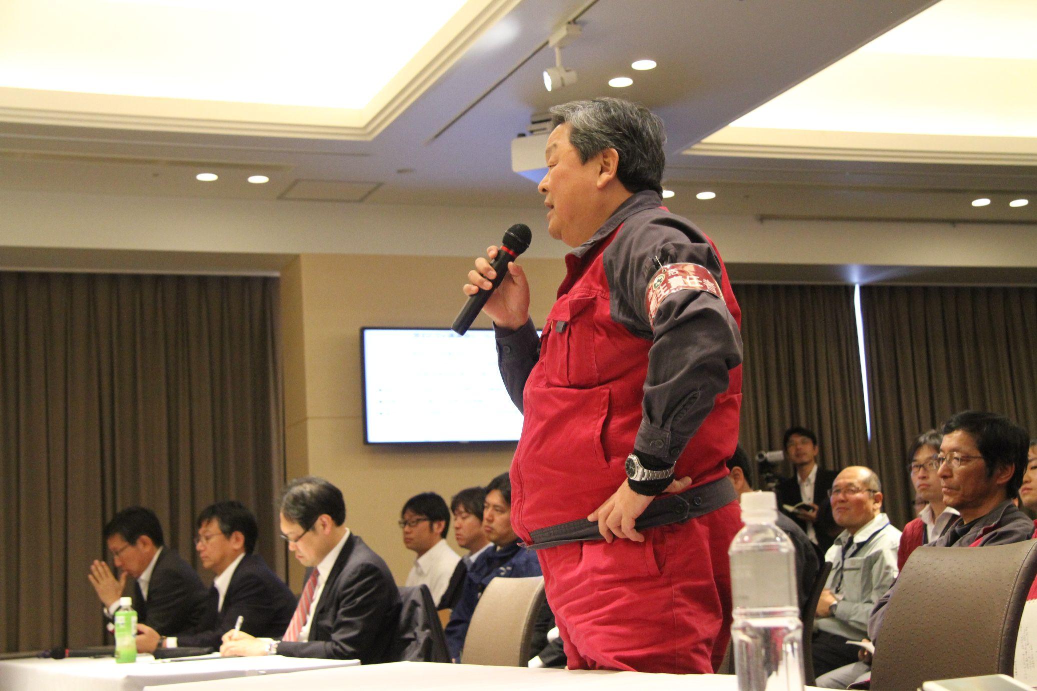 常石造船 川北雅弘 取締役工場長からの質問や感想