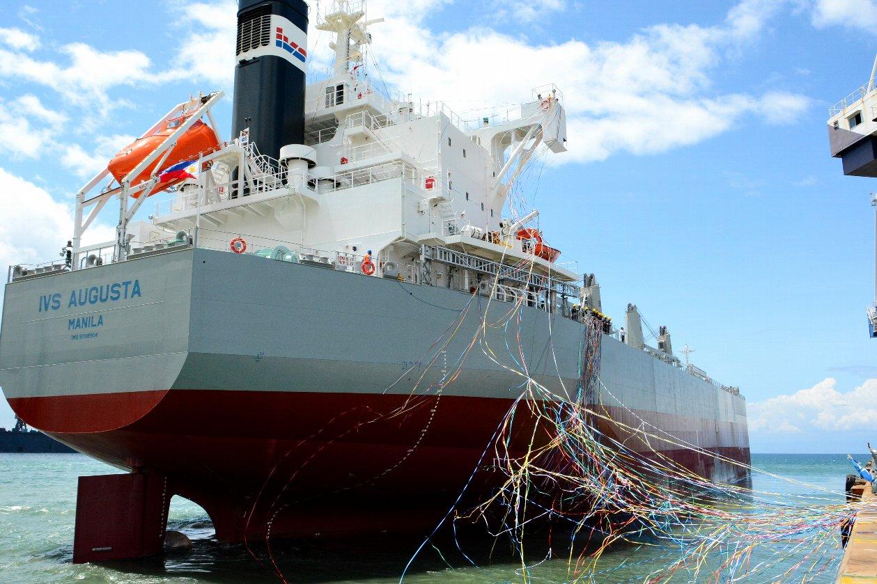"""ばら積み貨物船""""TESS58""""グループ通算158隻目を竣工・引渡 ~常石造船のフィリピンのグループ会社、ツネイシ・ヘビー・インダストリーズ・セブ"""