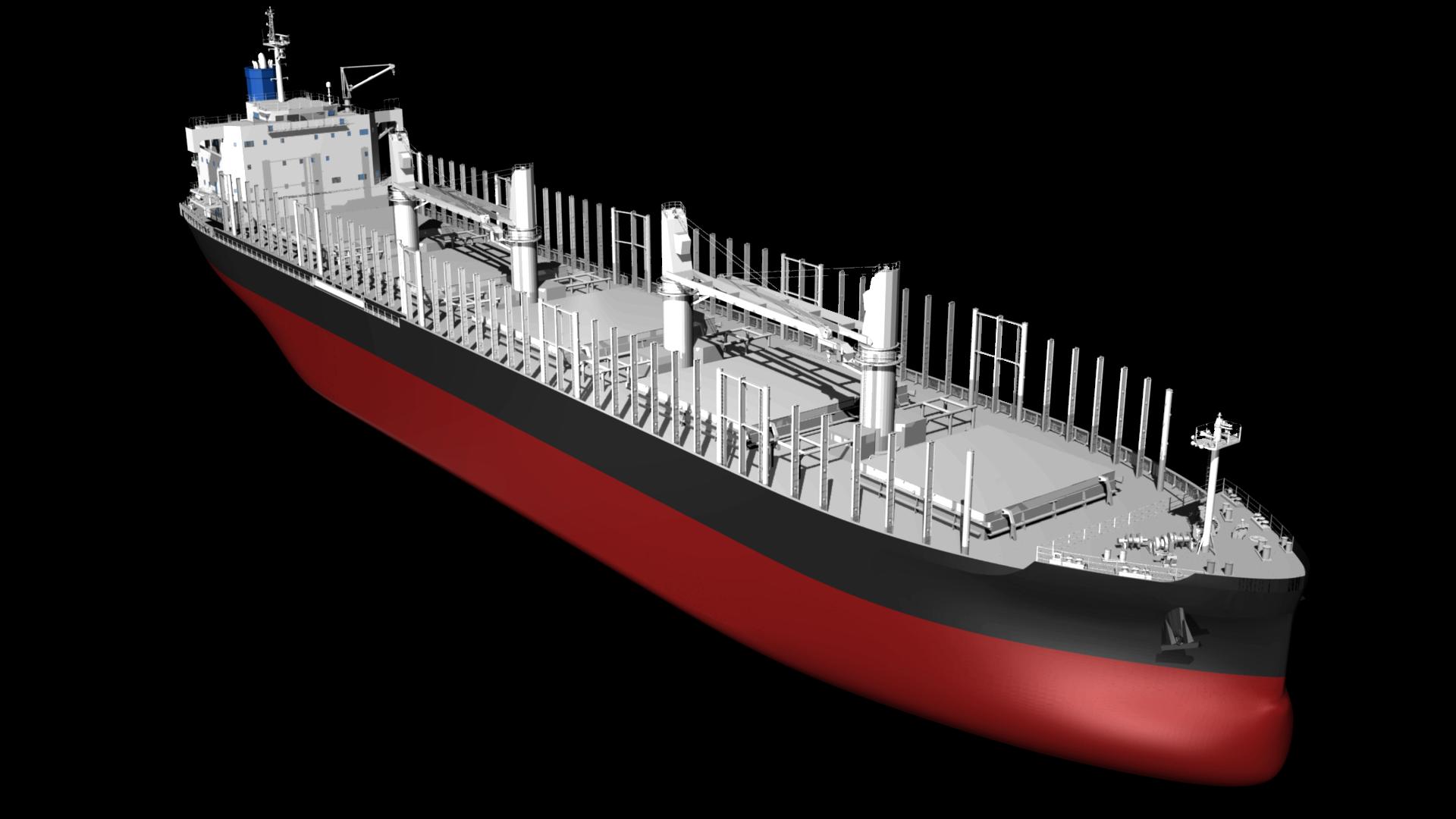 """常石造船、新開発の3万8,300トン型木材およびばら積み貨物船""""TESS38""""国内船主より初受注"""