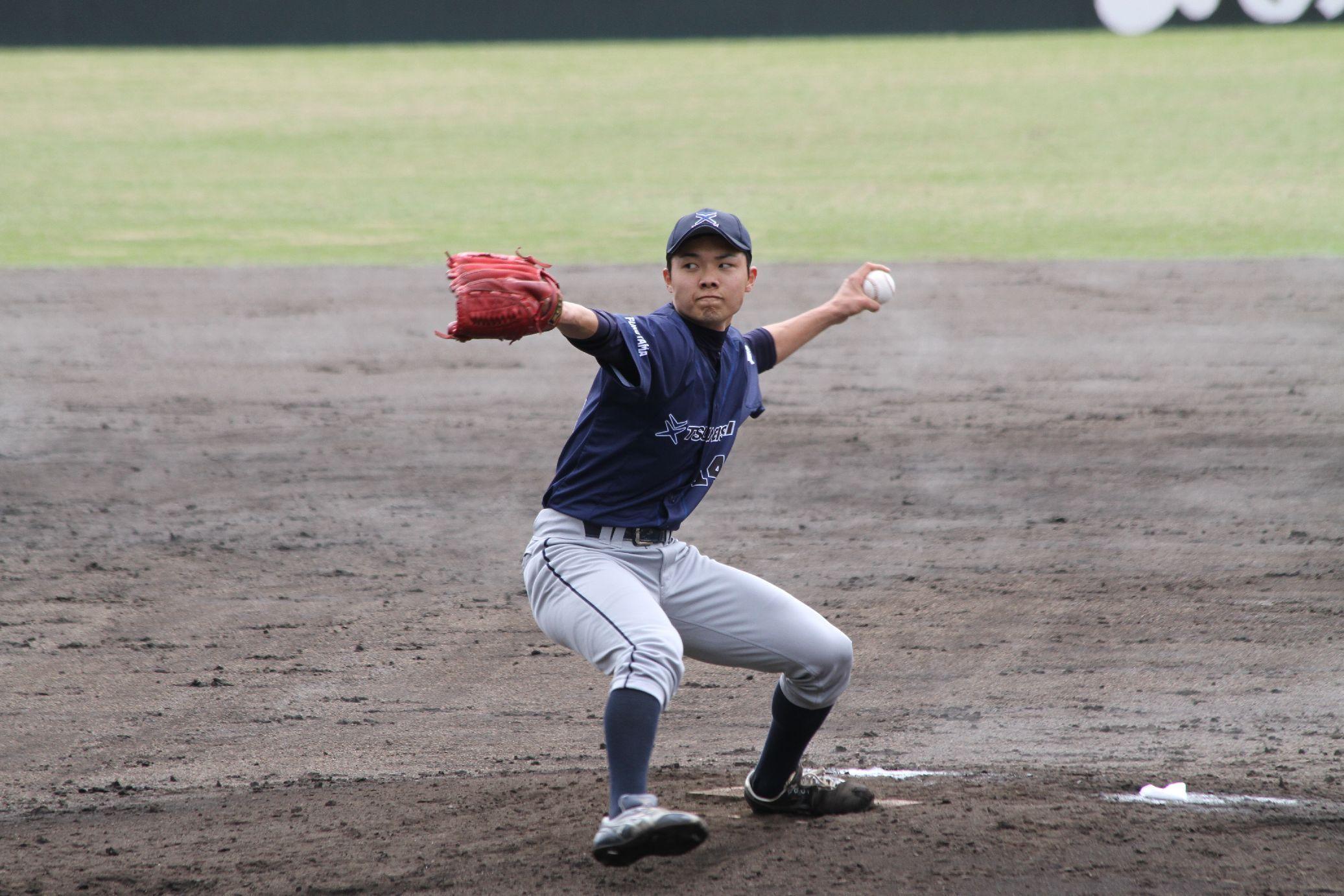 2試合で救援した久保田高弘投手
