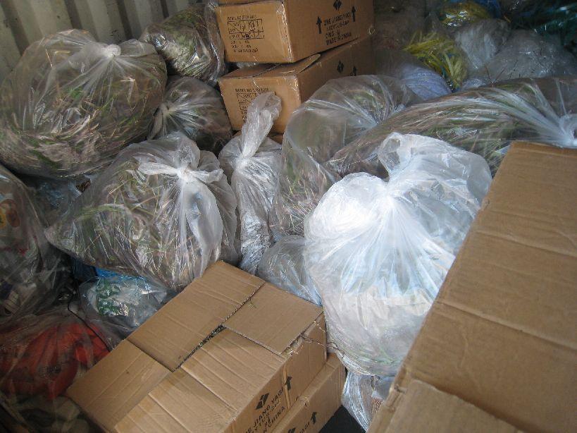 神原ロジスティクス清掃活動で収集したゴミ
