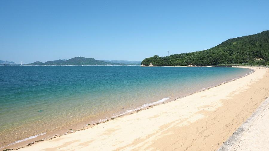 県内でいちばん早い海開き
