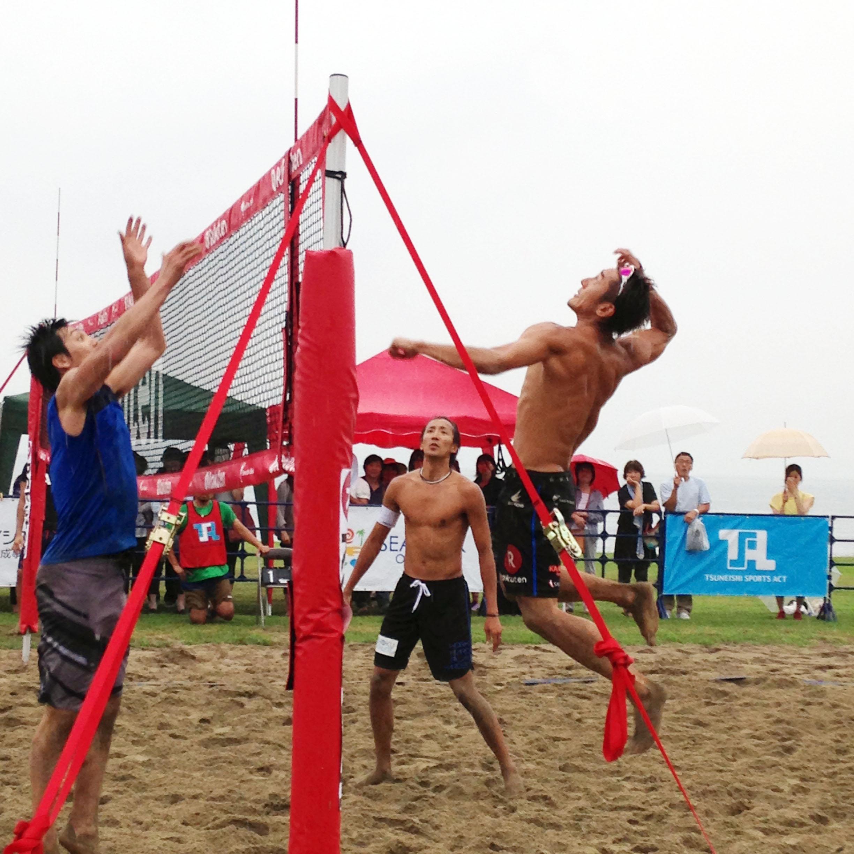 """海の環境を守る""""Save the Beach""""シーパーク大浜で開催。日本代表で活躍したトッププレーヤーが瀬戸内のビーチで白熱マッチ"""