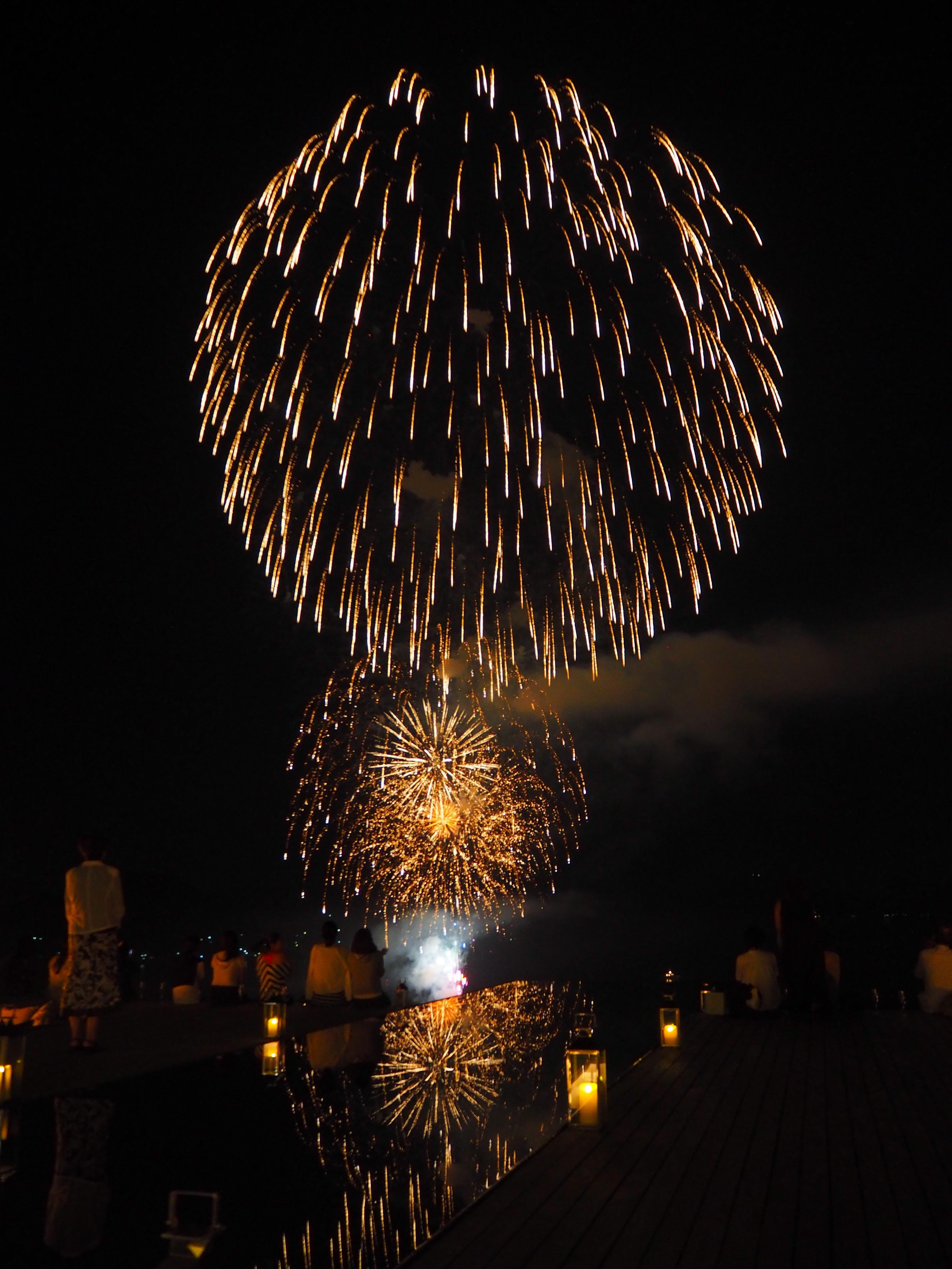ベラビスタから見た花火