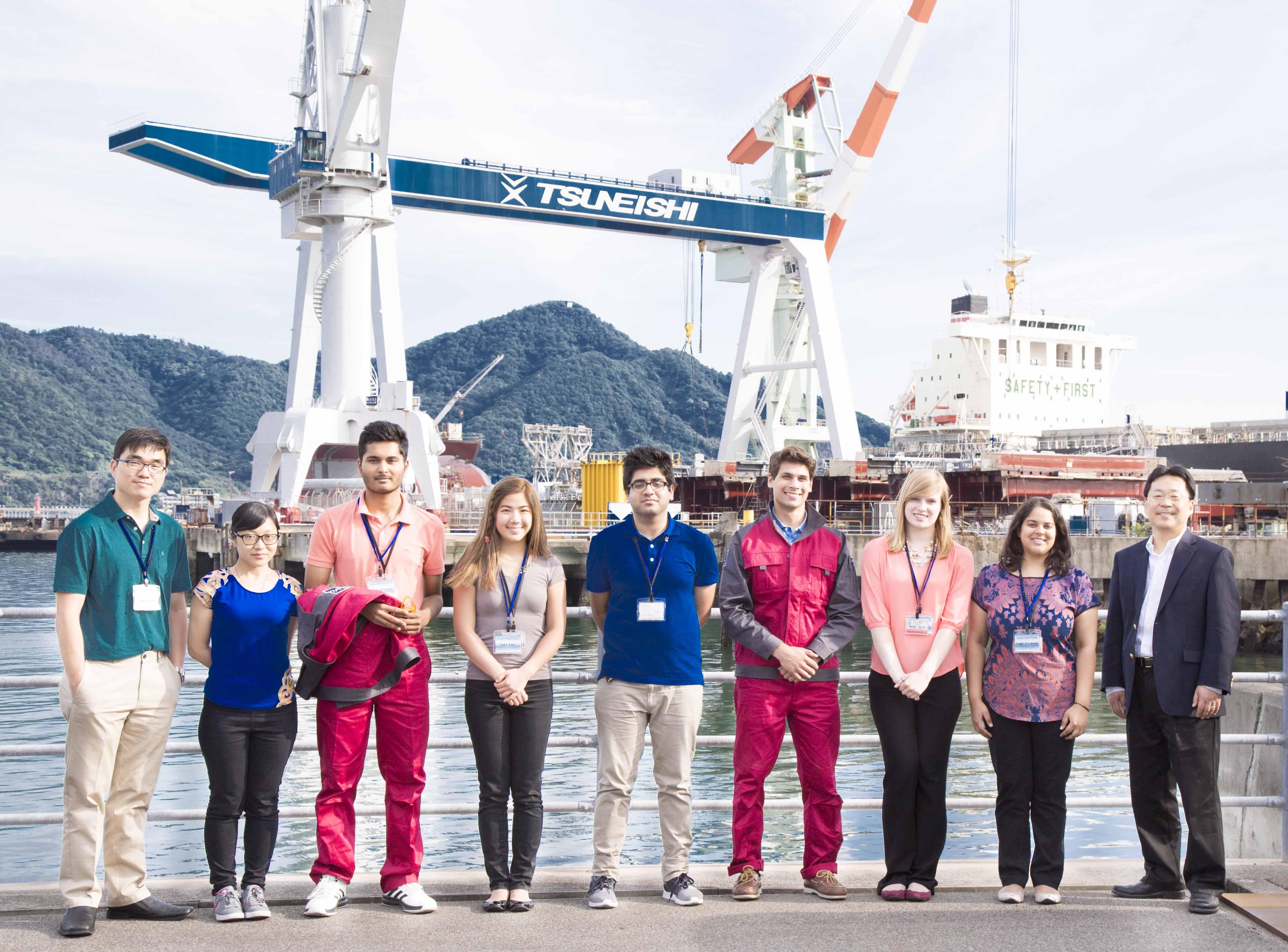 常石造船 カーネギーメロン大学のインターンシップ生を受け入れ