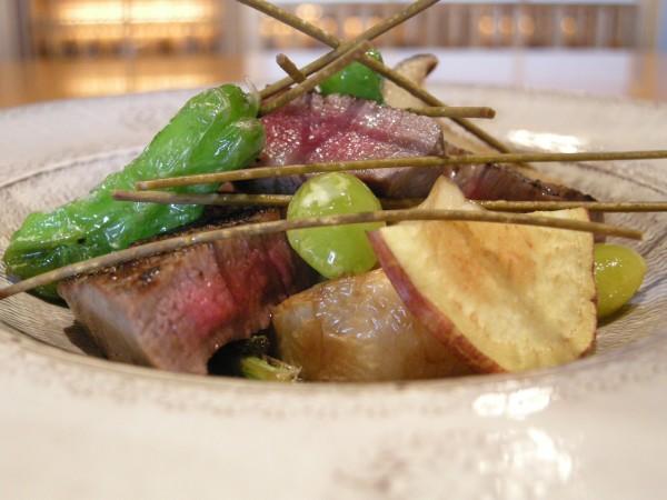 和牛フィレ肉と秋野菜の吹き寄せ(イメージ)